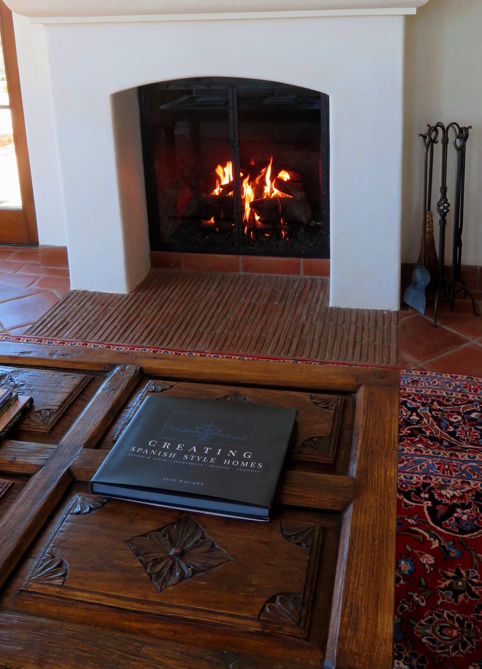 Spanish fireplace design and book